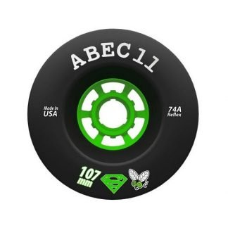 Black ABEC11 Superflys 107mm 74a Electric Skateboard Wheel